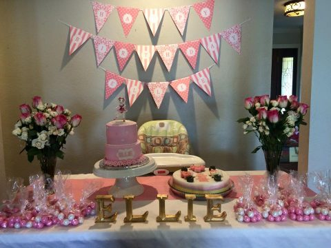 Ellie's Ballerina Pink 1st Birthday Party