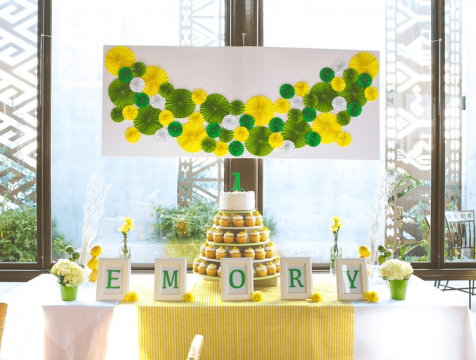 Emory's Minimal Decor Traditional First Birthday
