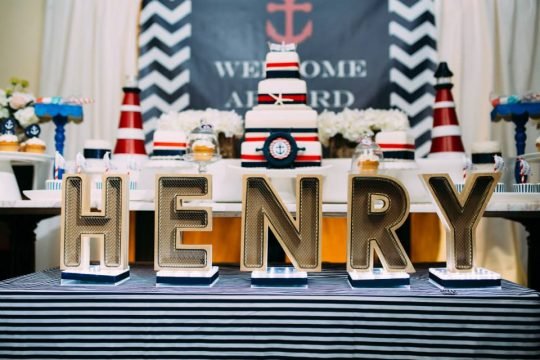 Henry's Nautical Themed First Birthday Party